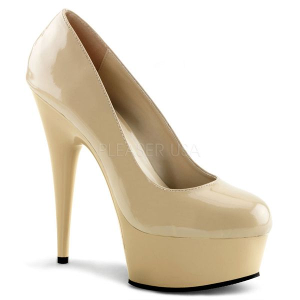 DELIGHT-685 High Heel Plateau Pumps nude Lack